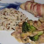 Fyldt kylling med bacon