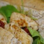 Grove baguettes med kylling og soltørrede tomater