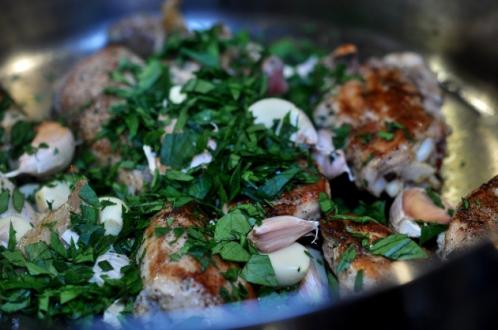 Kylling med hvidløg2