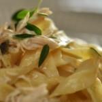 Kylling og pasta i citronsauce